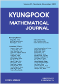 KYUNGPOOK MATHEMATICAL JOURNAL